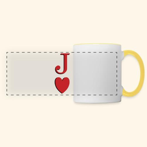 Valet de trèfle - Jack of Heart - Reveal - Mug panoramique contrasté et blanc