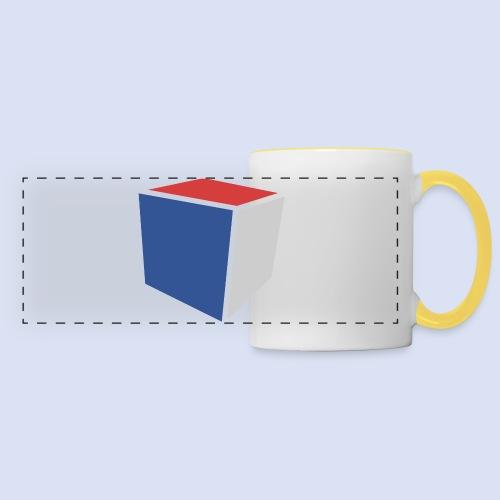 Cube Minimaliste - Mug panoramique contrasté et blanc