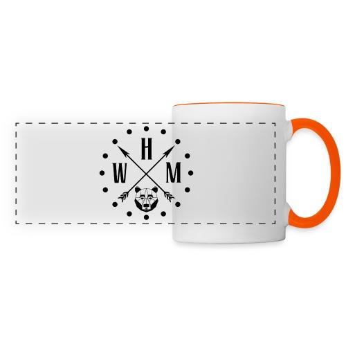Waltherman logo flèches - Mug panoramique contrasté et blanc