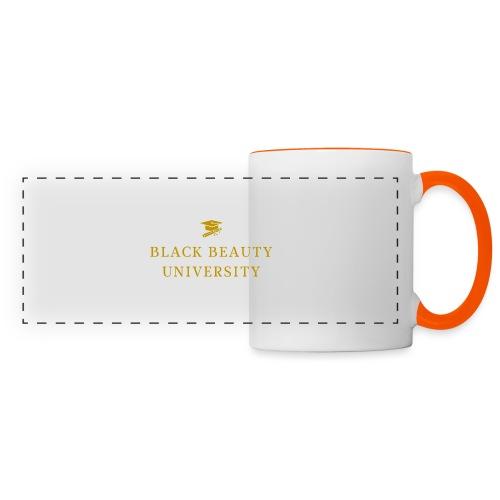 BLACK BEAUTY UNIVERSITY LOGO GOLD - Mug panoramique contrasté et blanc