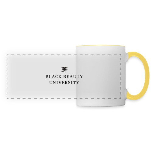 BLACK BEAUTY UNIVERSITY LOGO BLACK - Mug panoramique contrasté et blanc