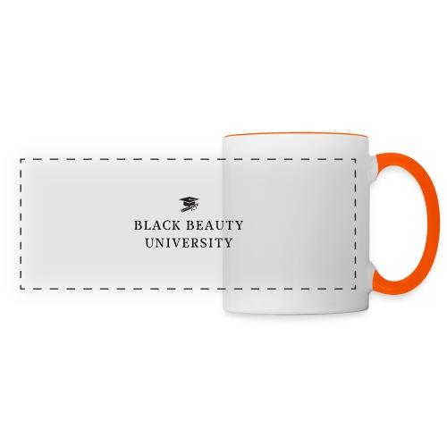 BLACK BEAUTY UNIVERSITY LOGO BLACK - Mug panoramique contrasté et blanc