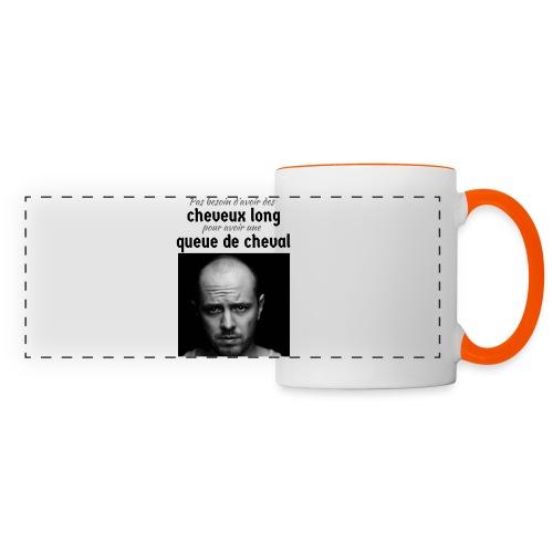 Humour Chauve ! - Mug panoramique contrasté et blanc