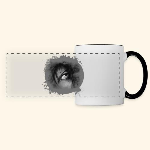 Regard sur le monde - Mug panoramique contrasté et blanc