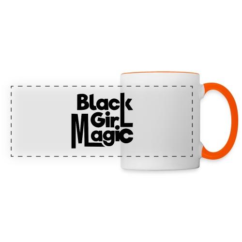 Black Girl Magic 2 Black Text - Panoramic Mug