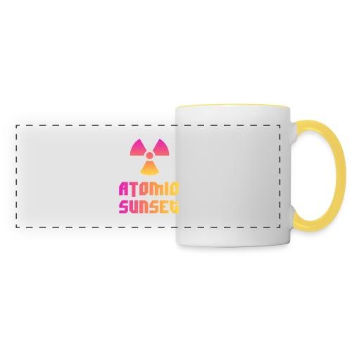 ATOMIC SUNSET - Mug panoramique contrasté et blanc