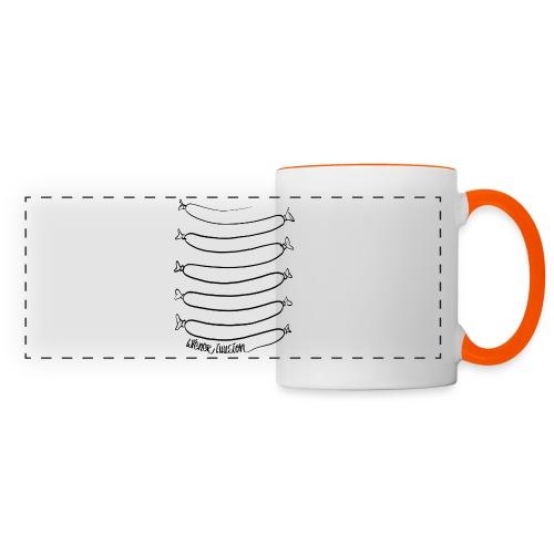 Wiener Illusion (schwarz auf weiß) - Panoramatasse
