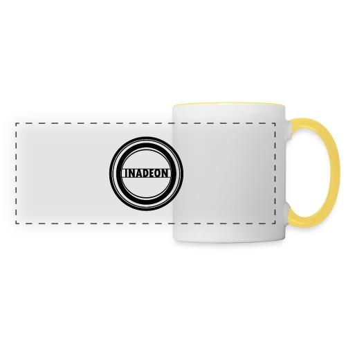 Logo inadeon - Mug panoramique contrasté et blanc