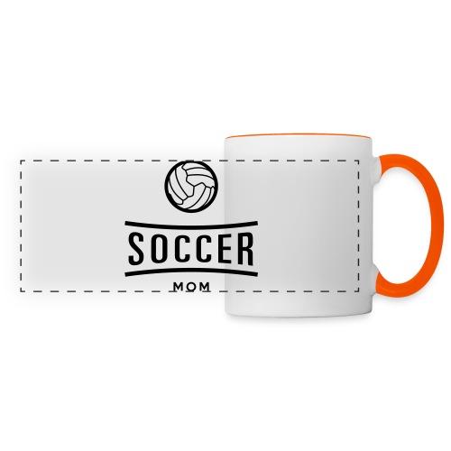 soccer mom - Mug panoramique contrasté et blanc