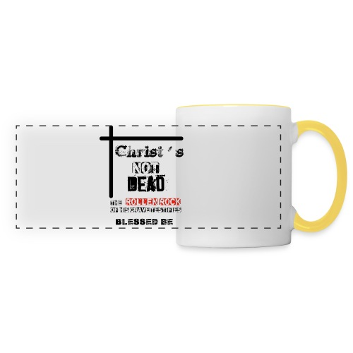 Christ's Not Dead - Mug panoramique contrasté et blanc