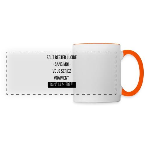 Je suis indispensable !!! - Mug panoramique contrasté et blanc