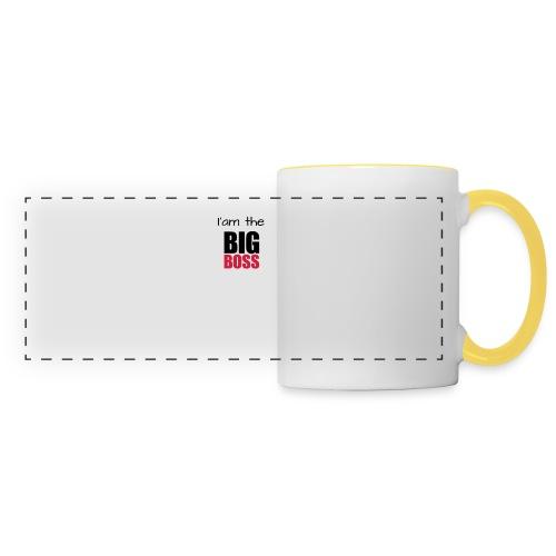 I am the big boss - Mug panoramique contrasté et blanc