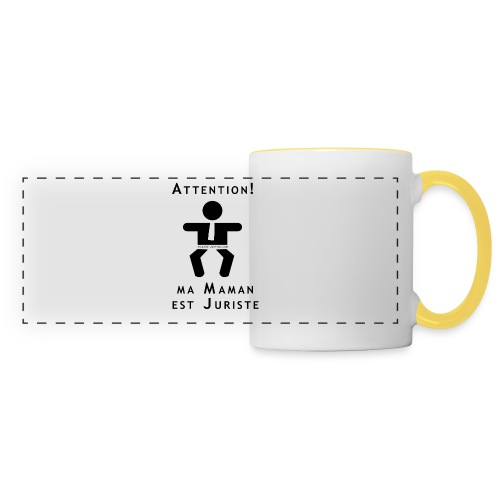 Attention Maman juriste ! - Mug panoramique contrasté et blanc
