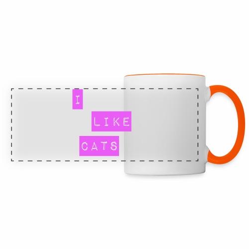 I like cats - Panoramic Mug