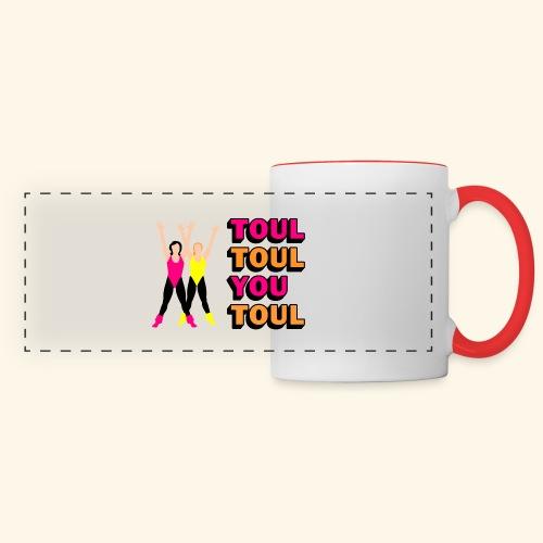 Toul Toul You Toul - Mug panoramique contrasté et blanc