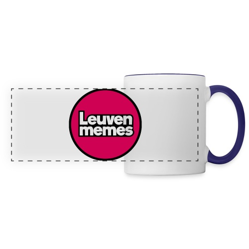 Logo LeuvenMemes - Mug panoramique contrasté et blanc