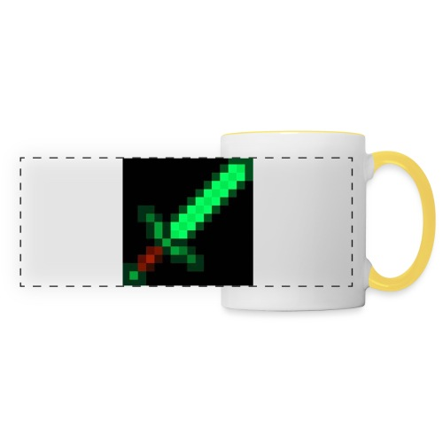 green emerald MCPE sword - Panoramic Mug