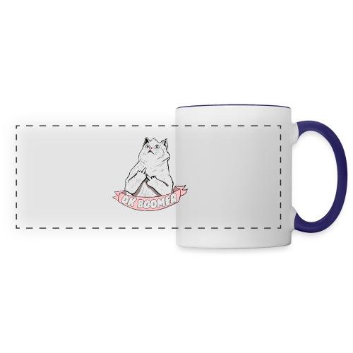 OK Boomer Cat Meme - Panoramic Mug