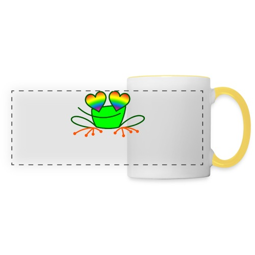Pride Frog in Love - Panoramic Mug