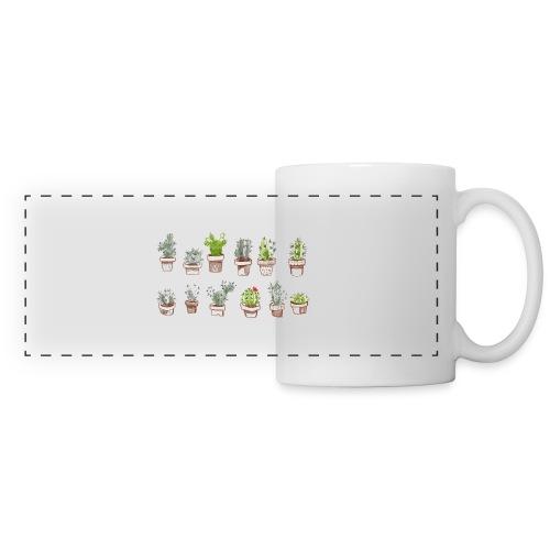 Cactus Family - Mug panoramique contrasté et blanc