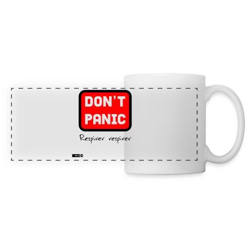 don't panic, respirer - Mug panoramique contrasté et blanc