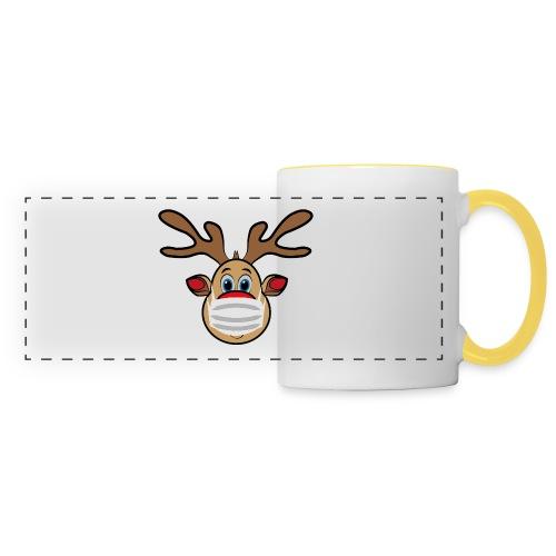 Ugly Xmas Rudi Reindeer mit Maske - Panoramatasse