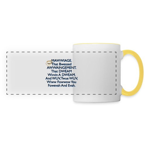 Mawwiage (blue) - Panoramic Mug
