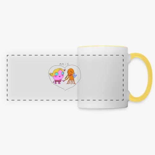 les meilleurs amis - Mug panoramique contrasté et blanc