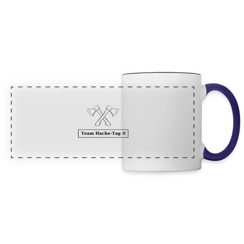 Logo Team Hache-Tag - Mug panoramique contrasté et blanc
