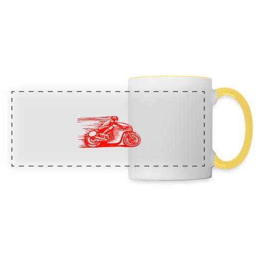 Caffeine & Gasoline white text - Panoramic Mug