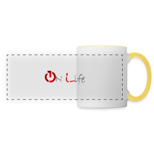 OnLife Logo - Mug panoramique contrasté et blanc