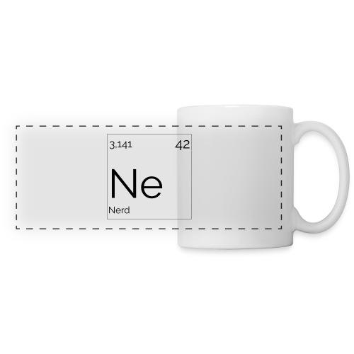 Mendeleïev Nerd - Mug panoramique contrasté et blanc