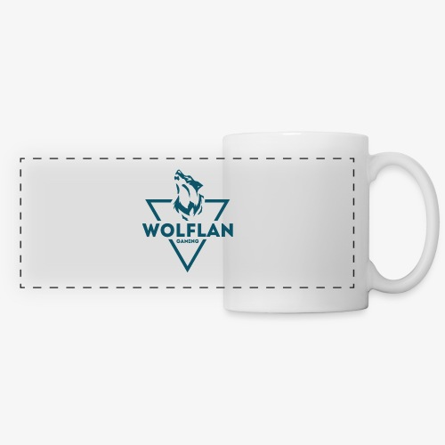 WolfLAN Logo Gray/Blue - Panoramic Mug