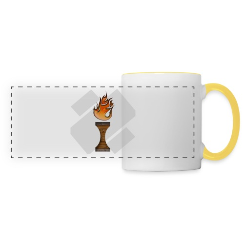 La Flamme de La Ilteam ! - Mug panoramique contrasté et blanc