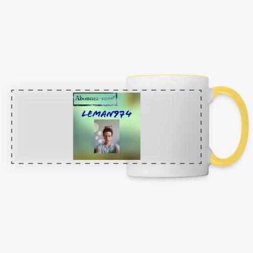 Leman974 logo - Mug panoramique contrasté et blanc
