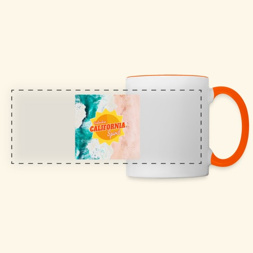 California Spirit Surfin - Mug panoramique contrasté et blanc