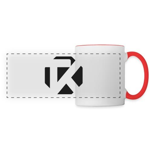 Logo TK Noir - Mug panoramique contrasté et blanc