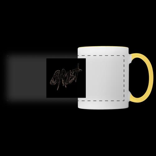 -Logo Qrust- - Mug panoramique contrasté et blanc