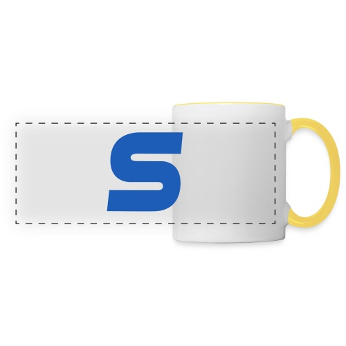 logo simple 2 0 Grand format - Mug panoramique contrasté et blanc