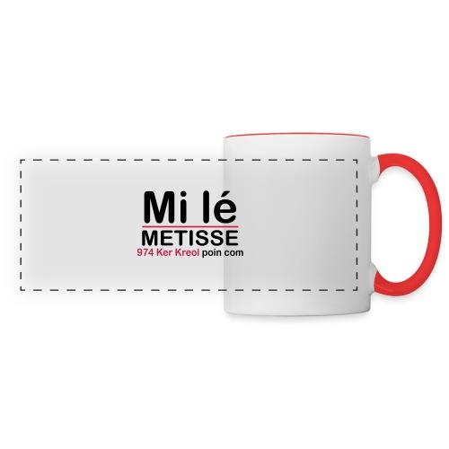 Mi lé METISSE - Mug panoramique contrasté et blanc