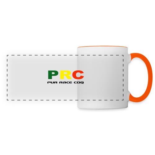 Pure Race Coq - PRC - Version 1 - Mug panoramique contrasté et blanc