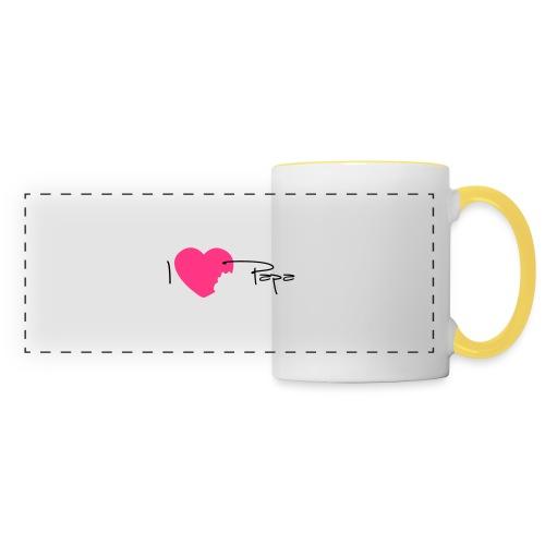 I love Papa 13 Vecto - Mug panoramique contrasté et blanc