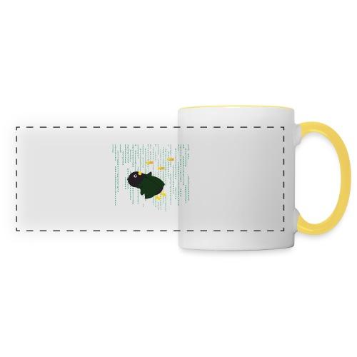 Pingouin Bullet Time - Mug panoramique contrasté et blanc