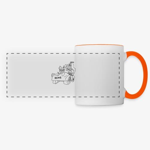 gova dinos - Mug panoramique contrasté et blanc