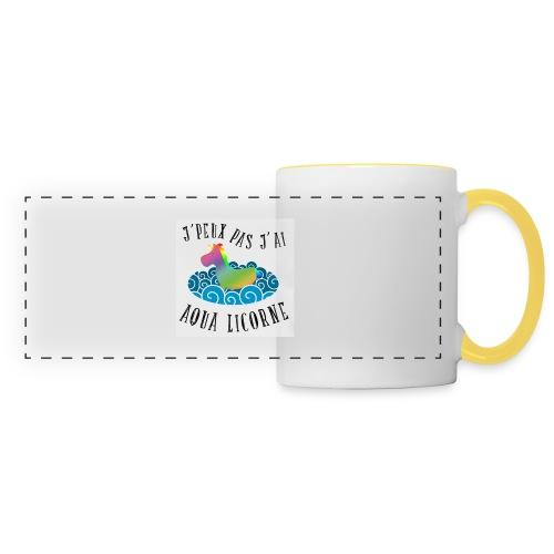 image - Mug panoramique contrasté et blanc