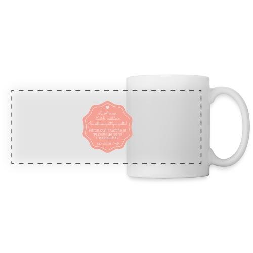 Amour - Mug panoramique contrasté et blanc
