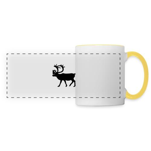Le Caribou - Mug panoramique contrasté et blanc