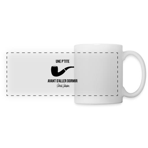 Une p'tite pipe - Mug panoramique contrasté et blanc