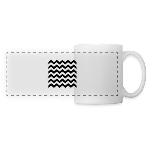 zigzag png - Mug panoramique contrasté et blanc