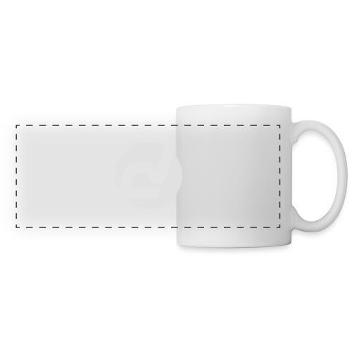 logo blanc - Mug panoramique contrasté et blanc